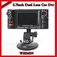 "2.7""LCD HD Car dvr,Dual Lens Night Vision DVR F30 With Wide Angle Lens G-sensor,H2.64,Car Black Box,Speech Function,F30 DVR"
