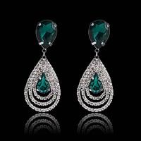 Free shipping,new spring 2014 brand earrings cz diamond jewelry,Australia crystal dangle/drop earrings for women earring dress