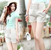 New 2014 Summer women high waist shorts vintage fashion casual super shorts chain ornament side zipper free shipping