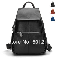 Genuine Cow  Leather Top Layer Cowhide Women's Backpack Tote Bag, Our Own Factory product