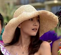 Carambola beach cap large along the strawhat sun-shading hat female large brim strawhat