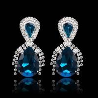 Free shipping,new 2014 brand earrings cz diamond jewelry,AAA+ Australia crystal dangle/drop earrings for women fashion jewelry