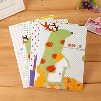 20PCS/LOT Korean stationery cartoon animal student notebooks diary notepad wholesale