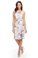 Free shipping Fashion 2014 Inexpensive Elegant Women Stretch Viscose Belted Dress fashion flower print women dresses