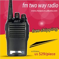 free shipping 5W  portable handheld transceiver  SDT-168  walkie talkie with earpiece