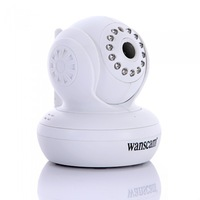 Wanscam Wireless WiFi IP Camera 13 IR LED Night Vision Dual Audio Webcam White