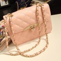 2014 Sale Bolsas Women Handbags Evening Bag Peach Heart Women Leather Handbags Purse Chain Shoulder Messenger Day Clutch Wallets