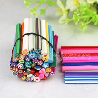New 50pcs Mix Designs Polymer Clay Nail Art Canes Stickers Decoration Fimo Rods Decoration