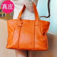 New arrival 2014 genuine leather women's handbag vintage first layer of cowhide handbag shoulder bag big bag