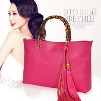 2014 women's spring genuine leather handbag fashion vintage tassel all-match women's cowhide handbag big bags messenger bag