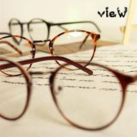 Free shipping! 2014 Most popular eyeglasses Men/Women round frame eyewear Fashion eye glasses High Quality have lens myopia