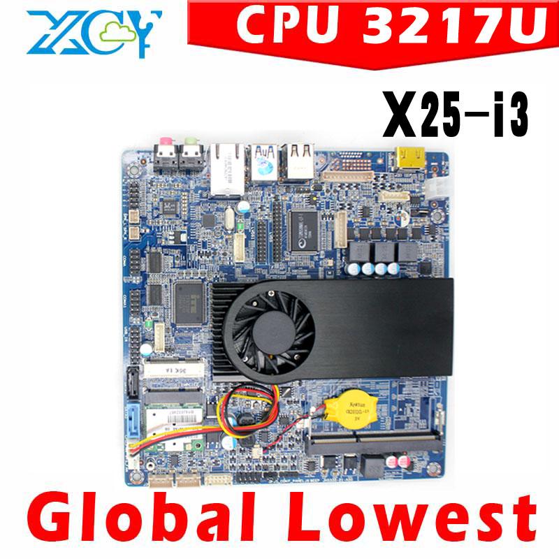 MINI ITX motherboard Intel ITX Mainboards motherboard with cpu 3217U with small fan 1*HDMI,4*USB intel 3217u core dual 1.8GHz(China (Mainland))