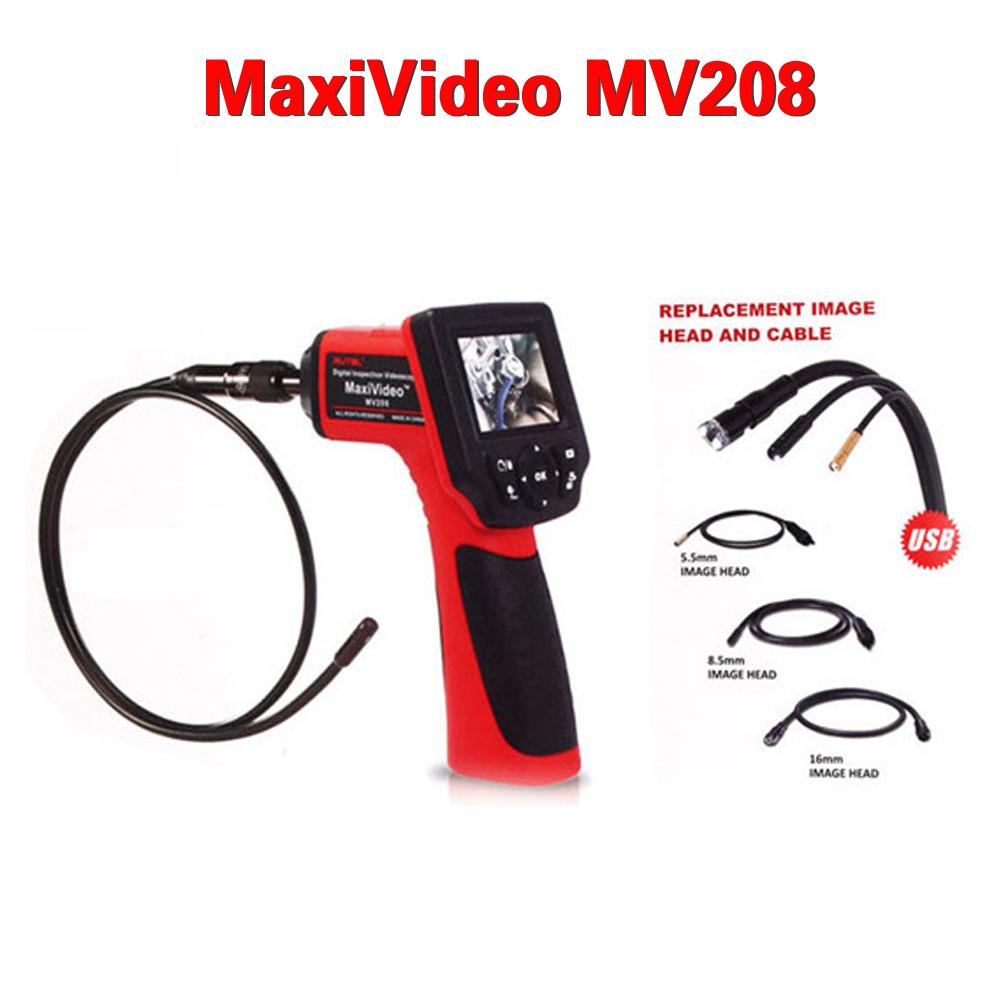 Free Shipping Original Digital Inspection Videoscope MaxiVideo MV208 5 5mm Head