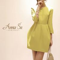 2014 spring and autumn ladies princess dress lantern neon color long-sleeve dress female bud dress