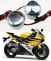 12V Universal Aluminum Motorcycle Led Flash tail light Offroad Moto Auxiliary Headlight Strobe Flasher Fog lamp Rear Warning LED