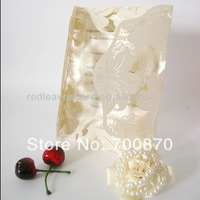 New Arrival: IC1202-11 Red Leaves Flower Laser cut  Wedding Invitation Card for Wedding
