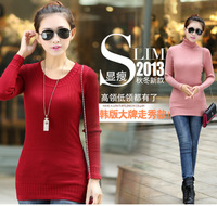 2013 autumn women's sweater knitted sweater twisted all-match blousier