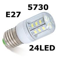 Lamps 7W E27 5730 lamps led light 1Pcs/Lot 220V Corridors Use Energy Efficient,Corn Bulbs E27-5730-24LEDs Lamps 5730 SMD 7W