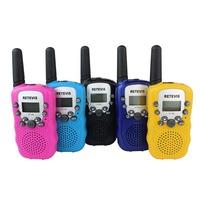 1 pair T-388  Mini Walkie Talkie UHF 462.550-467.7125MHz 0.5W 22CH For Kid Children LCD Display A7027Z Fshow