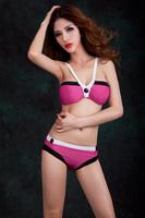 Free Shipping 2014 Summer Hot Sexy Women Bikinis Set With Button Bikini For Women