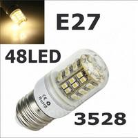 E27 3528 48LED Bedroom use 220V LED Spot light E27 3W 3528 SMD 48 LEDs Bulb Lamp Light Corn Light E27 Free Shipping 4Pcs/Lot