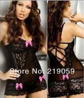 Large Size XXL XXXL XXXXL 2XL 3XL Sexy Lingerie Babydoll Chemise Bows Dress Underwear Sleepwear G string
