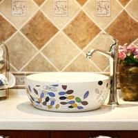 Self-restraint fresh ceramic bathroom wash basin rustic modern art basin