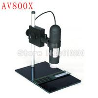 800X AV TV Digital Microscope Microscope Endoscope Magnifier Digital Camera 8LED+Holder FOR PCB repair Observe biological/botany