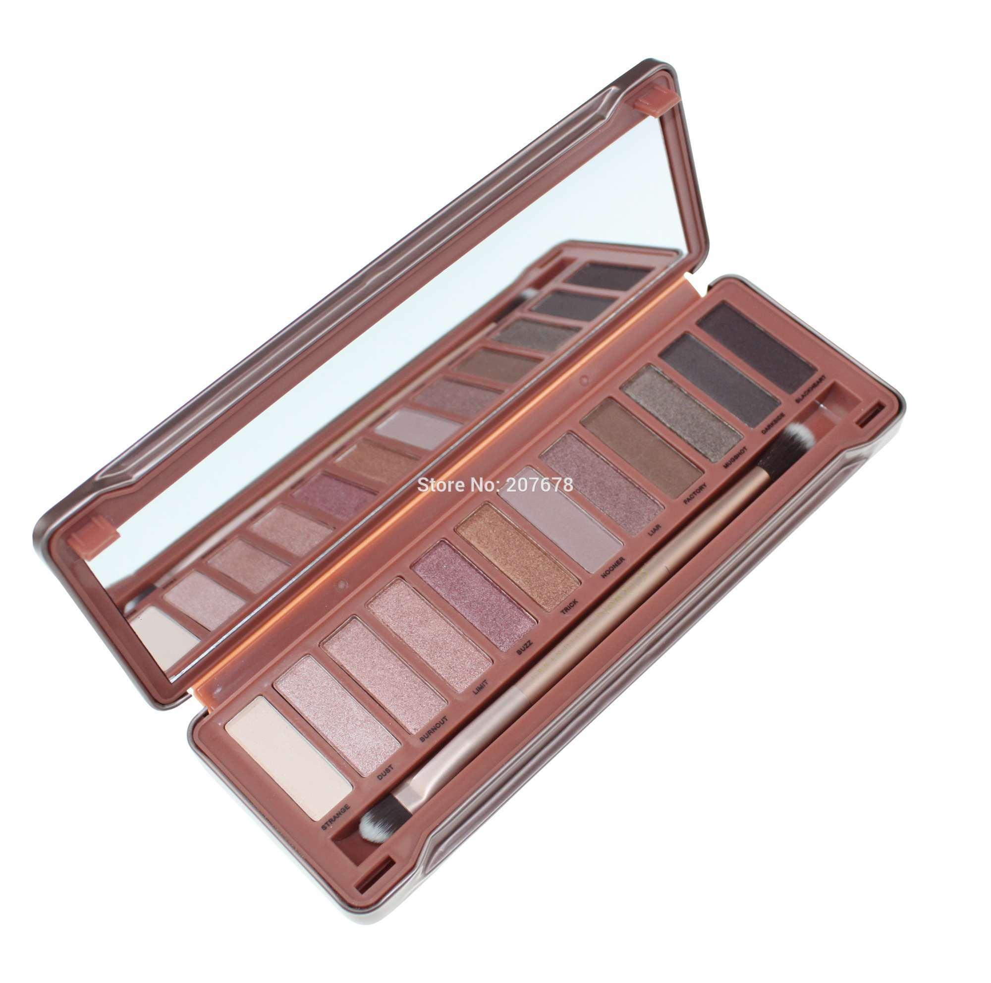 Hot Selling  12 Colors Eye Shadow Makeup Set Naked Eyeshadow Palette gift 3 Generation Free Shipping With Eyeshadow Brush(China (Mainland))