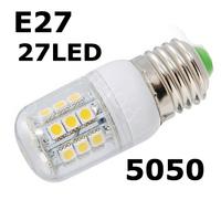 E27-5050SMD-27LED+Free Shipping+LED Corn Light Bulbs Lamps E27 B22 G9 110V 220V 5W Warm /Cool White Home Lighting 4pcs/LOT