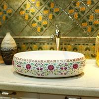 Plus size pastels, lengthen bathroom wash basin hand basin ceramic oval shape classic 303