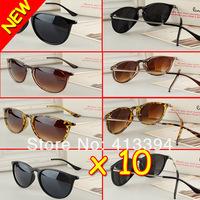 Hotsale Fashion Brand Design Metal Thin Legs Retro Round Sunglasses Glasses 4171 4 Colors