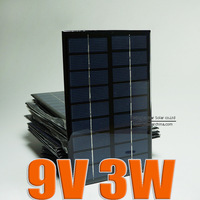 9V 3W 330mA Mini monocrystalline polycrystalline solar battery Panel charge for small solar power kit DIY education study