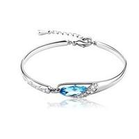 Fashion 18k gold&Platinum gilding alloy Cinderella's glass shoe crystal bracelet Women cuff bracelet Opening bangle High quality