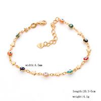 Cute girls turkish evil eye beads charm chain Bracelets for women 18K yellow gold plated jewelry birthday girl gift
