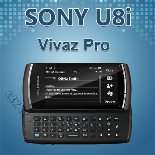 U8i Original Sony Ericsson Vivaz Pro U8i Unlocked Mobile Phone Symbian os 3.2inch Screen 3G GPS 5MP Refurbished Cell phone(China (Mainland))