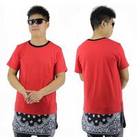 HEY GUYS Fashion red zipper tshirt style  hip hop streetwaer Cashew flowers long  oversize men brand t shirt  women t-shirts hot