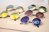 2014 New arrival General vintage non-mainstream glasses circle sunglasses large sunglasses metal sunglasses