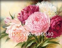Free Shipping Peony Flowers 40*30CM Diy diamond painting diamond embroidery Cross-stitch square drill full rhinestone diamond