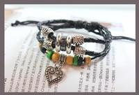 Little Love Retro Leather Cord Preparation Of Multilayer Bracelet