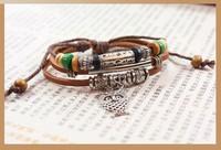 Korean Fashion Cute Owl Wooden Beads Bracelet