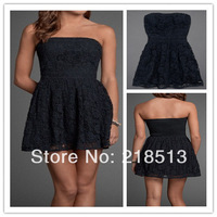 Free shipping Fashional Summer Women Dress Formal evening gowns dresses for evening Lace Black chiffon dress