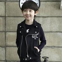 2014 spring skull boys clothing baby child vest vest outerwear wt-2429