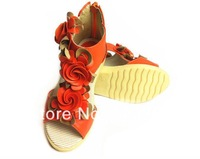 2014  Package mail Children's  sandals  Girls sandals  Sports shoes  Light and soft bottom  Breathable mesh fabric 234
