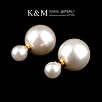 (Min order is $10) New arrival unique design gold pearl earrings CZ diamond earrings for women free shipping