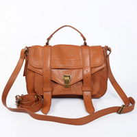 Free Shipping! Medium size Women's  Brown Lamb leather PS1 Handbag Totes Messenger bags  Size: 30 x 20 x 12,5cm