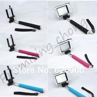 2ni1 DHL 20sets (20pcs monopod +20pcs clip holder)Selfie Rotary Extendable Handheld Camera Tripod Mobile phone Monopod