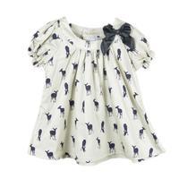 2014 summer bow girls blouse deer cotton shirt 100% cotton kids pretty children clothing wholesale 6pcs/lot free shipping