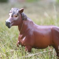 Papo plastic animal model toy decoration red horse