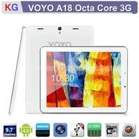 9.7 inch VOYO A18 Samsung Exynos 5410 Octa Core 3G Phone Tablet Pc Retina Display GPS Bluetooth 2GB RAM 16GB ROM(100% In stock)
